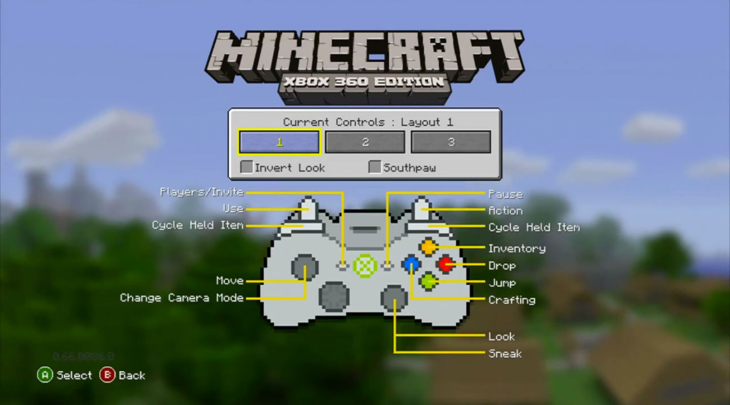 minecraft ps3 button layout